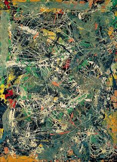 "Jackson Pollock ""Untitled"", 1949 (USA, Abstract Expressionism / Action Painting, 20th cent.)"