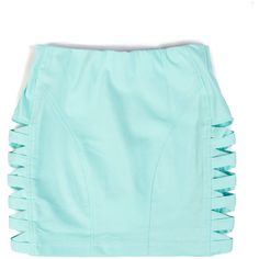 X-ed Out Denim Mini Skirt - 2020AVE ($23) ❤ liked on Polyvore