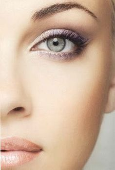 Gorgeous lavender makeup. So pretty for Spring - try lining with a purple liner to bring out the intensity of the lavender shadow. We love Ilia Pure Eyeliner in My Generation