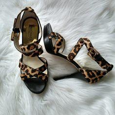 "Michael Kors Calf Hair Sandal A beautiful sandal with a 4"" heel. Platform is 3/4"". NWOT MICHAEL Michael Kors Shoes Heels"