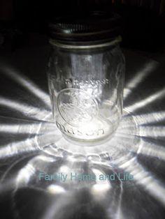 Mason jar solar light.