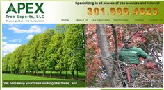 Newest website launched today for Apex Tree Experts in Mt Airy, MD. This is their first website.