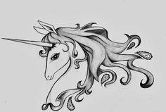 Last Unicorn Tattoo Design by iwasbornadragon.deviantart.com on @DeviantArt