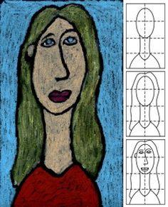Modigliani portrait diagram