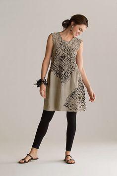 Smocked Linen Tunic: Joanna Staniszkis: Linen Tunic - Artful Home