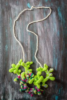 Long Colorful Crochet Necklace inspired by by LidaAccessories