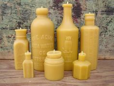 Yellow Bottle Shaped Candles