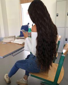 Hinten von braune lange haare Braune Kurze