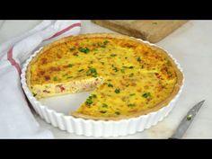 Quiche de atún ¡Una receta fácil y rica que te salvará más de una cena! - YouTube Quiche Recipes, Omelette, Mashed Potatoes, Recipies, Muffin, Brunch, Keto, Nutrition, Favorite Recipes