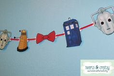Doctor Who Party Banner TARDIS DALEK Cybermen by HeartsandCraftsy