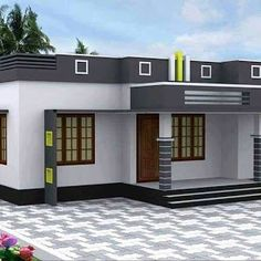 3 Bedroom Contemporary Home for 28 Lakhs with Free Plan - Free Kerala Home Plans