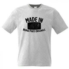 Tricou Made in 'anul nasterii' Mens Tops, How To Make, T Shirt, Fashion, Supreme T Shirt, Moda, Tee Shirt, Fashion Styles, Fashion Illustrations