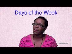 Preschool Learning - Days of the Week - Littlestorybug