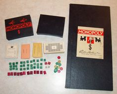 Vintage Monopoly 2nd Ed. Darrow DBB and Trademark Hybrid White Border Game Board