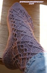 Ravelry: Marina Labyrinth Socks pattern by Nicole Masson