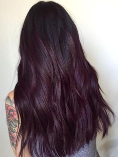Deep Violet Plum Hair Color Trends for 2018 Women's