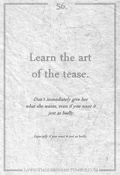 Art of the tease
