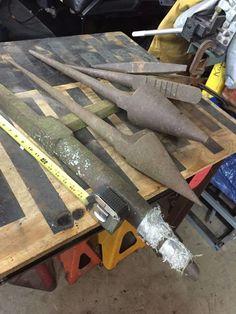 Antique Tinsmith Tools Tin Snips Rawhide Hammer