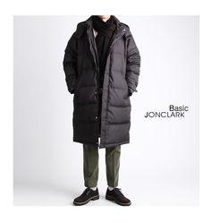 오리털 100% 덕다운 롱패딩점퍼-padding02 - [존클락]30대 남자옷쇼핑몰, 깔끔한 캐쥬얼 데일리룩, 추천코디