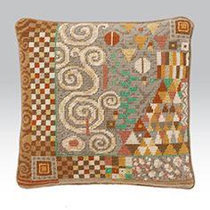 Klimt: Silver tapestry pillow kit from Erhman.com
