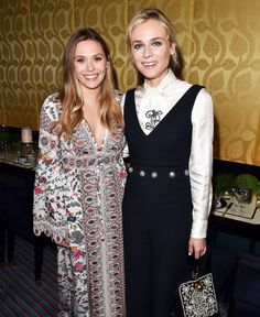 LADIES IN LONDON      Elizabeth Olsen and Diane Kruger look ever-glamorous while attending the Tory Burch Regent Street opening afterparty on Monday in London.  Star Tracks: Tuesday, May 23, 2017