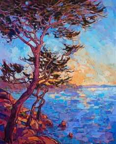 Contemporary painting of Monterey 17-mile drive, by Erin Hanson.