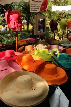 The Hat Stall at the Market in Sanary-sur-Mer, France