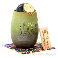 Lovely Creative Kokeshi Doll MEBUKI (SPROUTING) by Masae Fujikawa