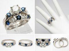 Diamants Et Engagement Saphir Anneaux: Tendances De La Mode Styles Pour 2016 | Diamond And Sapphire Engagement Rings