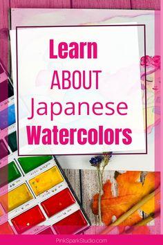 Learn all about the Japanese watercolors, Kuretake Gamsai Tambi