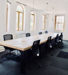 Steel and timber office desks! Office Desks, Space Furniture, Conference Room, Steel, Spaces, Table, Design, Home Decor, Homemade Home Decor