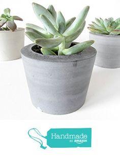 Concrete succulent planter from Badseed Studio https://www.amazon.com/dp/B01F44KDAS/ref=hnd_sw_r_pi_dp_4eaHxbH5ZKKWP #handmadeatamazon