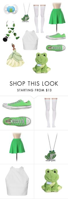 Princess and the frog by purpledymond0425 on Polyvore featuring Naven, Marieyat, Converse, Precious Moments, princess and little