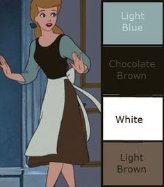 Cinderella disneybound cheat sheet