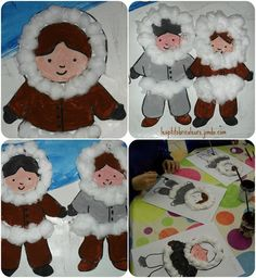 Winter season craft idea for preschool kids Winter Crafts For Kids, Winter Kids, Winter Art, Winter Theme, Art For Kids, Polo Norte, Winter Activities, Preschool Crafts, Kids Crafts