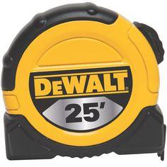 DWHT33373L 25' Tape Measure | DEWALT Tools