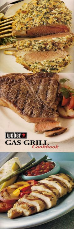 Rack of Lamb in weber Gas Grill Cookbook Methods Guides Recipes for meat, poultry, vegetables, and seafood.