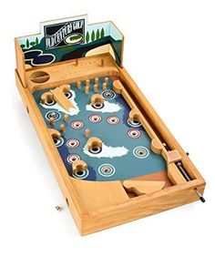 "Legler ""Golf Course"" Pinball Table Soccer and Billiard by Small Foot Woodworking Projects For Kids, Cnc Projects, Wooden Crafts, Wooden Diy, Wood Games, Wood Toys, Pinball, Toy Store, Toys For Boys"