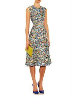 Molten-print sleeveless dress