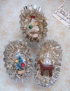 using tart tins for Christmas ornaments
