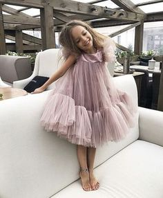 Discover more trendiest kids' fashion and be enthusiastic about these modern looks at CIRCU. Little Dresses, Little Girl Dresses, Girls Dresses, Flower Girl Dresses, Little Girl Fashion, Toddler Fashion, Kids Fashion, Kids Gown, Look Girl