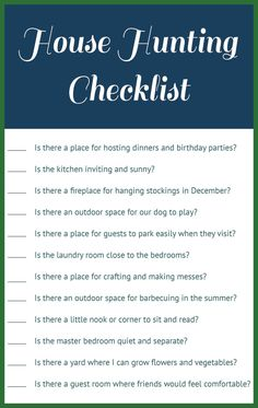 printable house hunting checklist meant for buying a home but it could be used for renting as. Black Bedroom Furniture Sets. Home Design Ideas