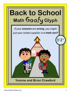 Back to School Math Goofy Glyph is an activity where students can hone their abilities in mathematics while putting together a fun art project that...