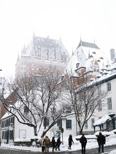 Photographic evidence as to why one must witness Quebec City in winter at least once in one's lifetime + helpful tips for planning a memorable trip. Old Quebec, Quebec City, Canada, Quebec Winter, Canadian Travel, Winter Art, Beautiful Places To Visit, Beautiful Pictures, Scenery