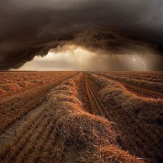 Summer storm at harvest time in Strohgaeu Baden-Wuerttemberg, Germany, photography by Franz Schumacher via @fantastic_earth