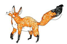 Fox by superszymba #fun #fox #drawing #cute #animals