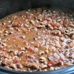 The years in the past I always think to make these New Year's Day Black-Eyed Peas too late in the day. Some think that eating black eyed peas on New Year's Day will bring prosperity in the new year.