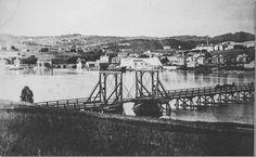 Inderøy, Strømmen, første bro 1861