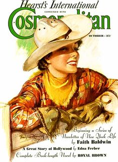 Vintage Magazine Cover #cowgirl on Cosmo #woahNeilly #neversawthatcoming