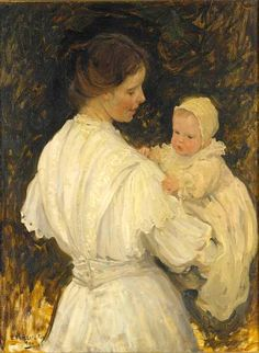 Mother And Child. Emanuel Phillips Fox (1865 – 1915, Australian)